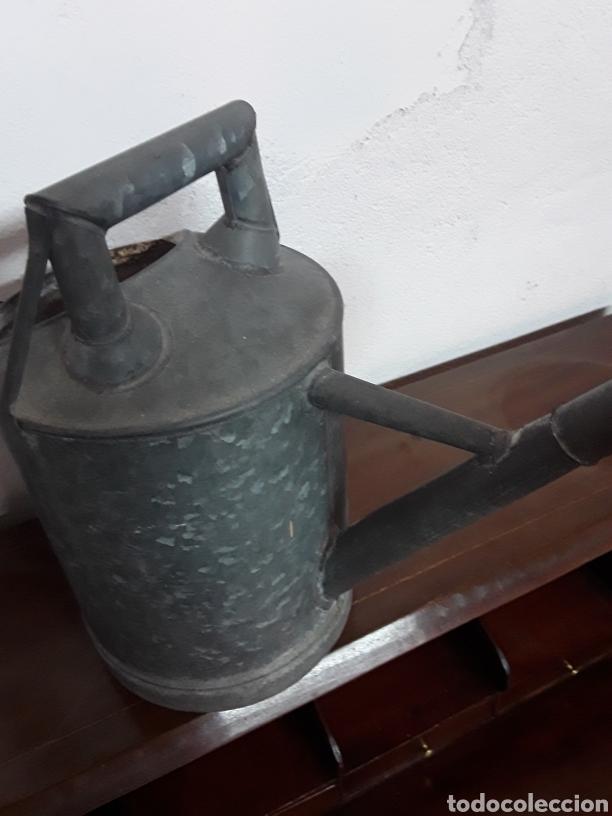 Antigüedades: Regadera de cinc - Foto 5 - 176196229
