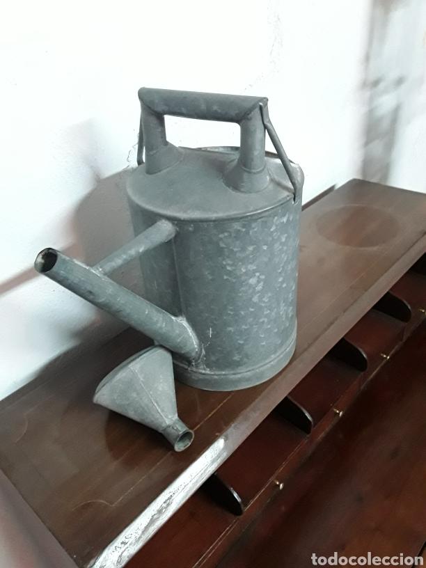 Antigüedades: Regadera de cinc - Foto 7 - 176196229