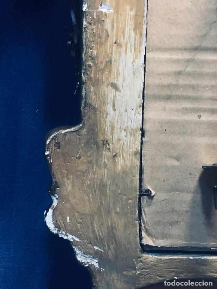 Antigüedades: HORNACINA MURAL ESCAYOLA DORADA IMAGEN VIRGEN PERPETUO SOCORRO FAROLILLOS HOJALATA - Foto 14 - 176197125