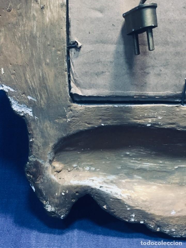 Antigüedades: HORNACINA MURAL ESCAYOLA DORADA IMAGEN VIRGEN PERPETUO SOCORRO FAROLILLOS HOJALATA - Foto 15 - 176197125
