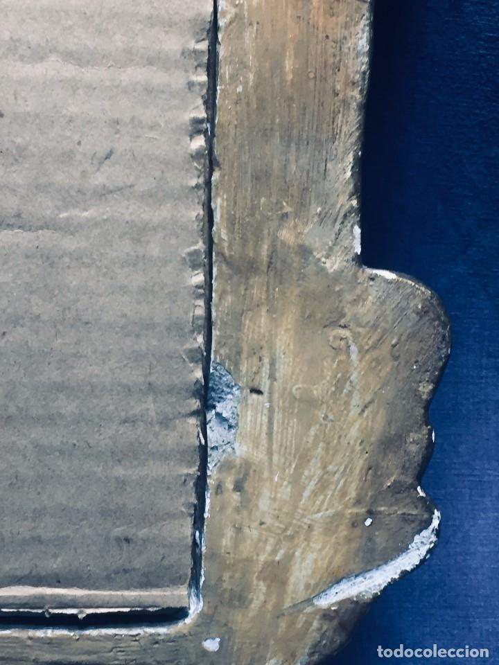 Antigüedades: HORNACINA MURAL ESCAYOLA DORADA IMAGEN VIRGEN PERPETUO SOCORRO FAROLILLOS HOJALATA - Foto 18 - 176197125