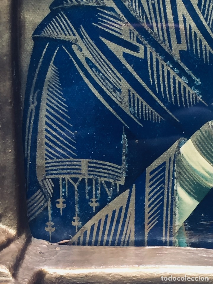 Antigüedades: HORNACINA MURAL ESCAYOLA DORADA IMAGEN VIRGEN PERPETUO SOCORRO FAROLILLOS HOJALATA - Foto 31 - 176197125