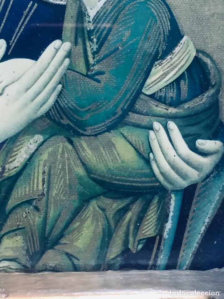 Antigüedades: HORNACINA MURAL ESCAYOLA DORADA IMAGEN VIRGEN PERPETUO SOCORRO FAROLILLOS HOJALATA - Foto 32 - 176197125