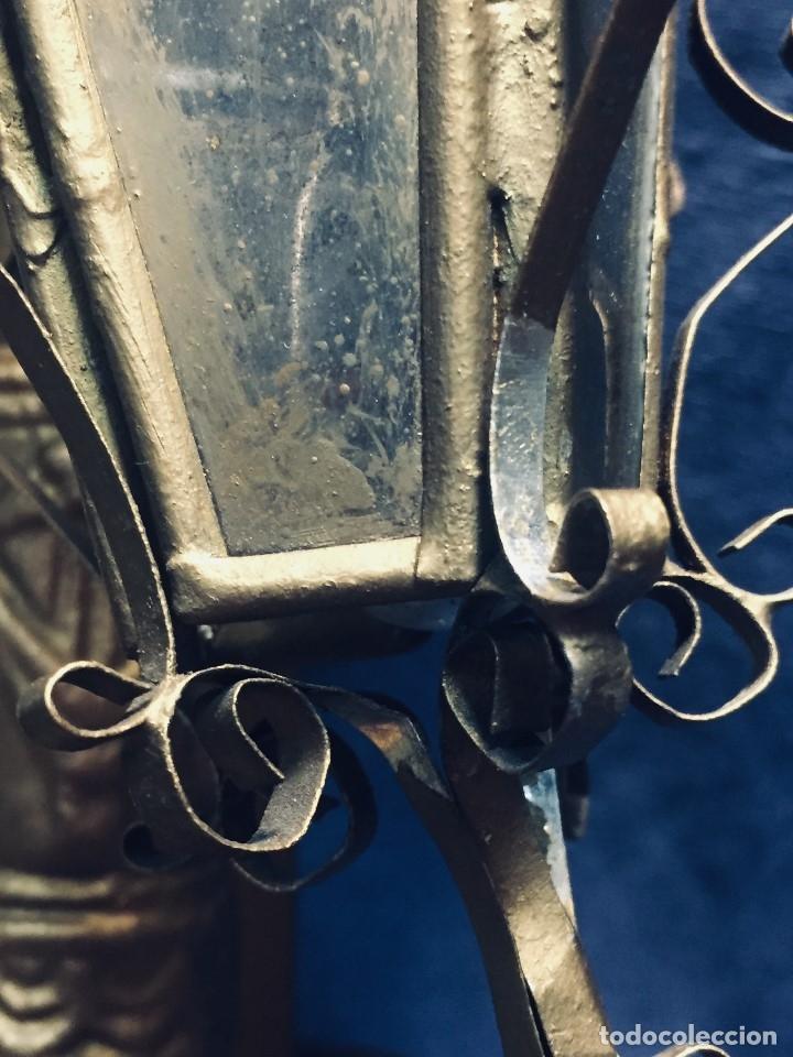 Antigüedades: HORNACINA MURAL ESCAYOLA DORADA IMAGEN VIRGEN PERPETUO SOCORRO FAROLILLOS HOJALATA - Foto 39 - 176197125
