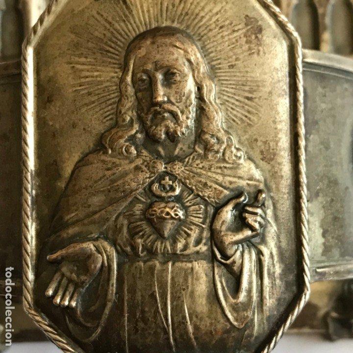 Antigüedades: Benditera plateada del SXIX. - Foto 2 - 176197984