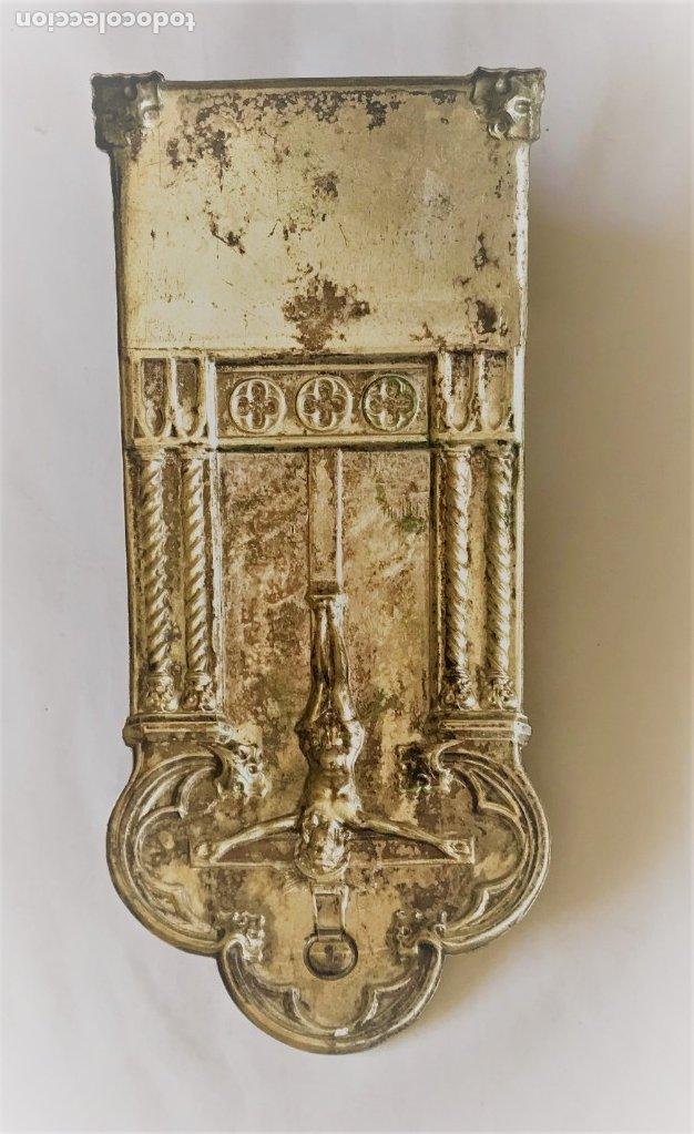 Antigüedades: Benditera plateada del SXIX. - Foto 10 - 176197984