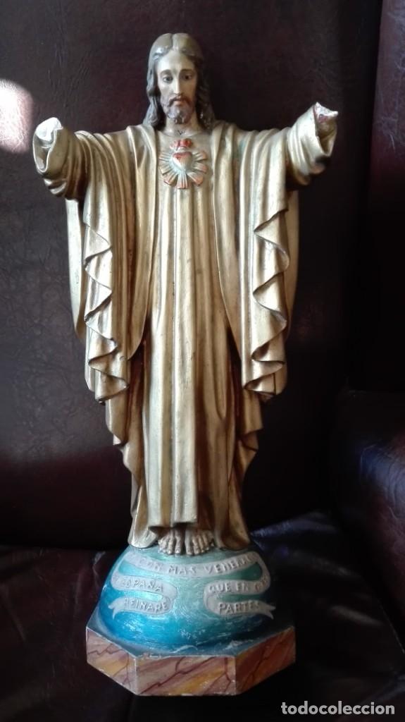 CORAZÓN DE JESÚS PARA RESTAURAR (Antigüedades - Religiosas - Varios)