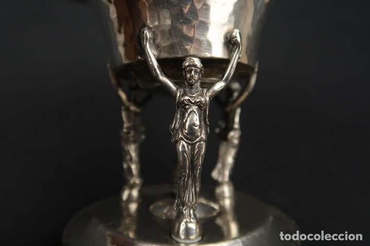 Antigüedades: Antigua Bandeja o Bombonera de Plata Española Contraste Estrella - Foto 7 - 176208184