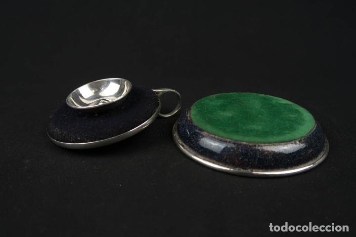 Antigüedades: Antiguo candelabro con bandeja de Plata y Esmaltes España Contraste Estrella - Foto 7 - 176208868