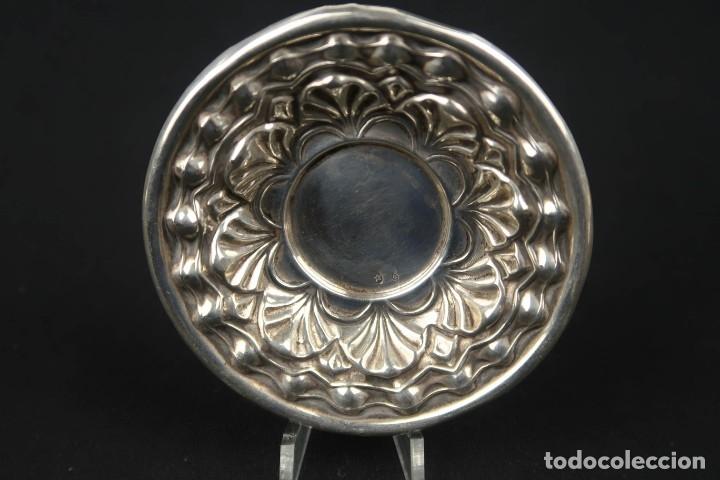 Antigüedades: Antigua bandeja de Plata Española Contraste Estrella - Foto 3 - 176209165