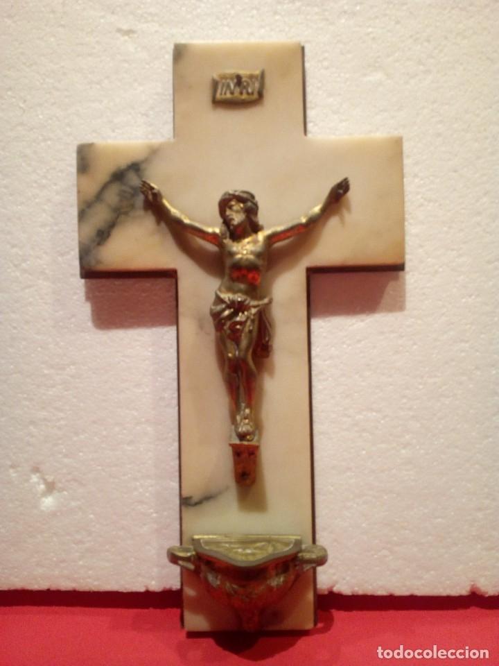Antigüedades: Antigua Benditera años 40 en mármol y bronce - Foto 2 - 176217897