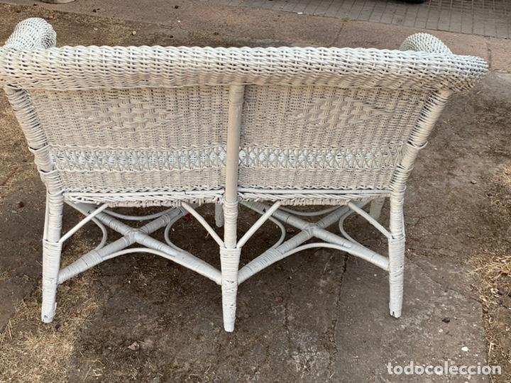 Antigüedades: ANTIGUO SILLÓN DE MIMBRE - Foto 6 - 176223378