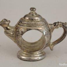 Antigüedades: TETERA - SERVILLETERO - SILVER PLATED. Lote 176230728