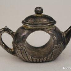 Antigüedades: TETERA - SERVILLETERO - SILVER PLATED. Lote 176230805