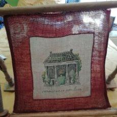 Antigüedades: BORDADO PUNTO DE CRUZ EN BASTIDOR. Lote 176259818