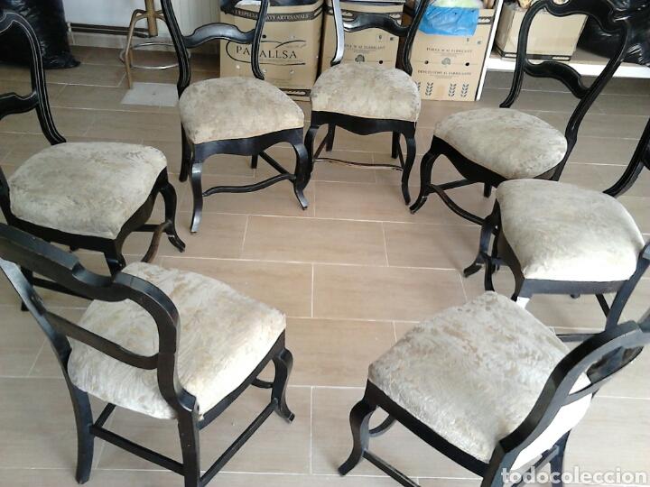 Antigüedades: 7 sillas antiguas (más de 100 años) - Foto 2 - 176266327