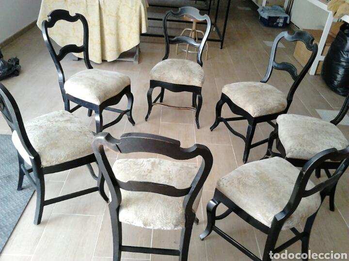 7 SILLAS ANTIGUAS (MÁS DE 100 AÑOS) (Antigüedades - Muebles Antiguos - Sillas Antiguas)