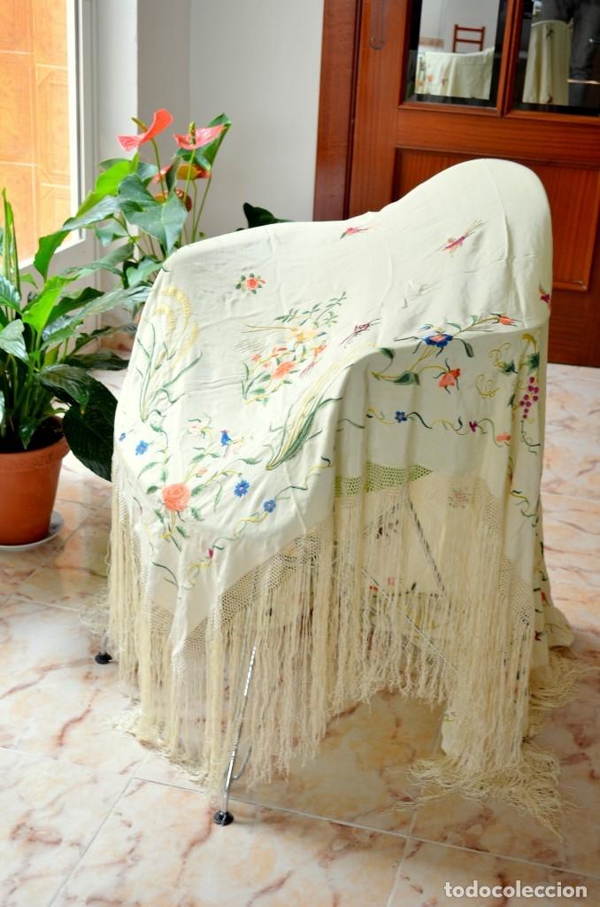 Antigüedades: ULTIMOS DIAS Mantón de manila isabelino - Foto 2 - 63260040