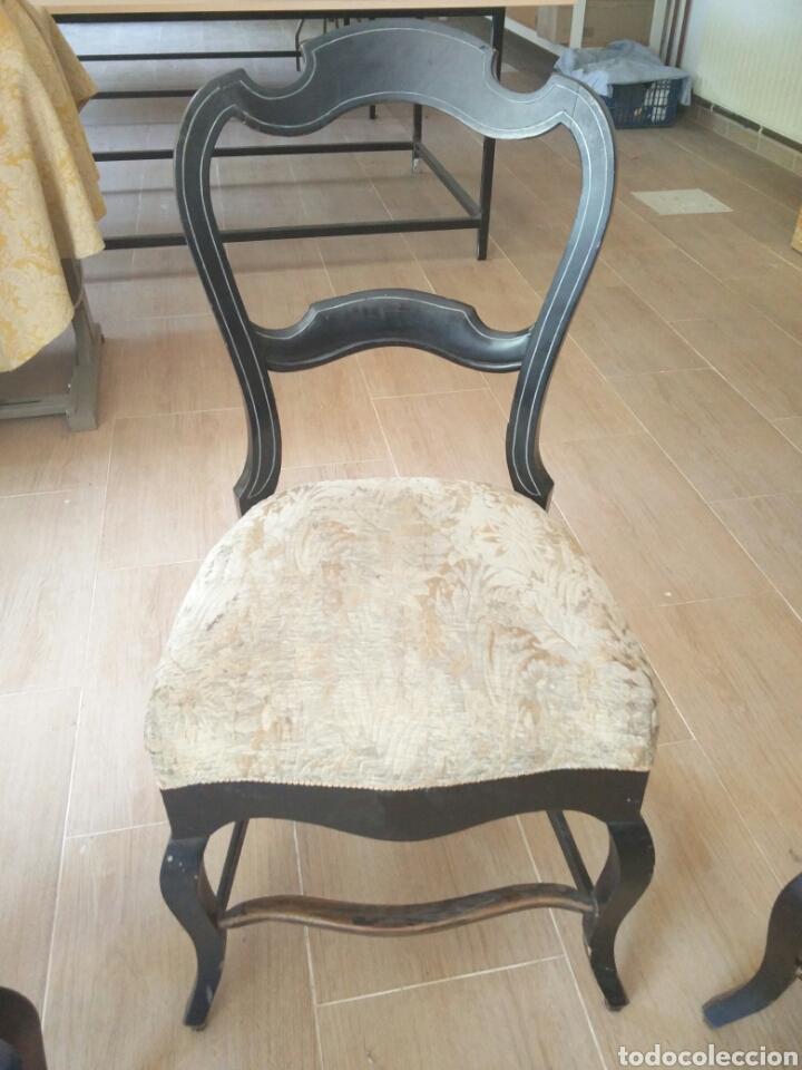 Antigüedades: 7 sillas antiguas (más de 100 años) - Foto 3 - 176266327