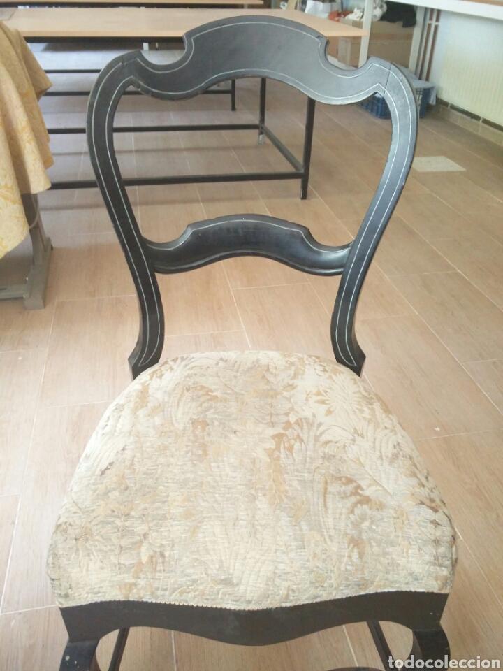 Antigüedades: 7 sillas antiguas (más de 100 años) - Foto 4 - 176266327