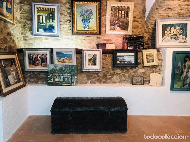 Antigüedades: Baúl forrado en cuero - Foto 8 - 176313712