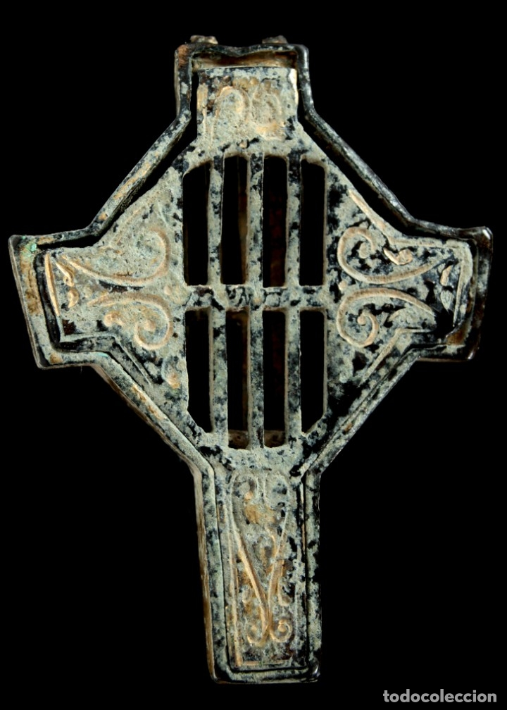Antigüedades: Cruz Religiosa, Siglos XVI-XVII, 33x25 mm - Foto 2 - 153611658