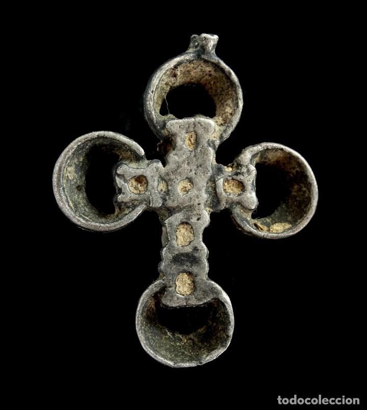 Antigüedades: Cruz Religiosa de plata, Siglos XVI-XVII, 19x15 mm. - Foto 2 - 157143094