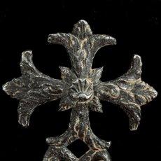 Antigüedades: CRUZ RELIGIOSA DE PLATA, SIGLOS XVI-XVII, 80X65 MM.. Lote 157143154