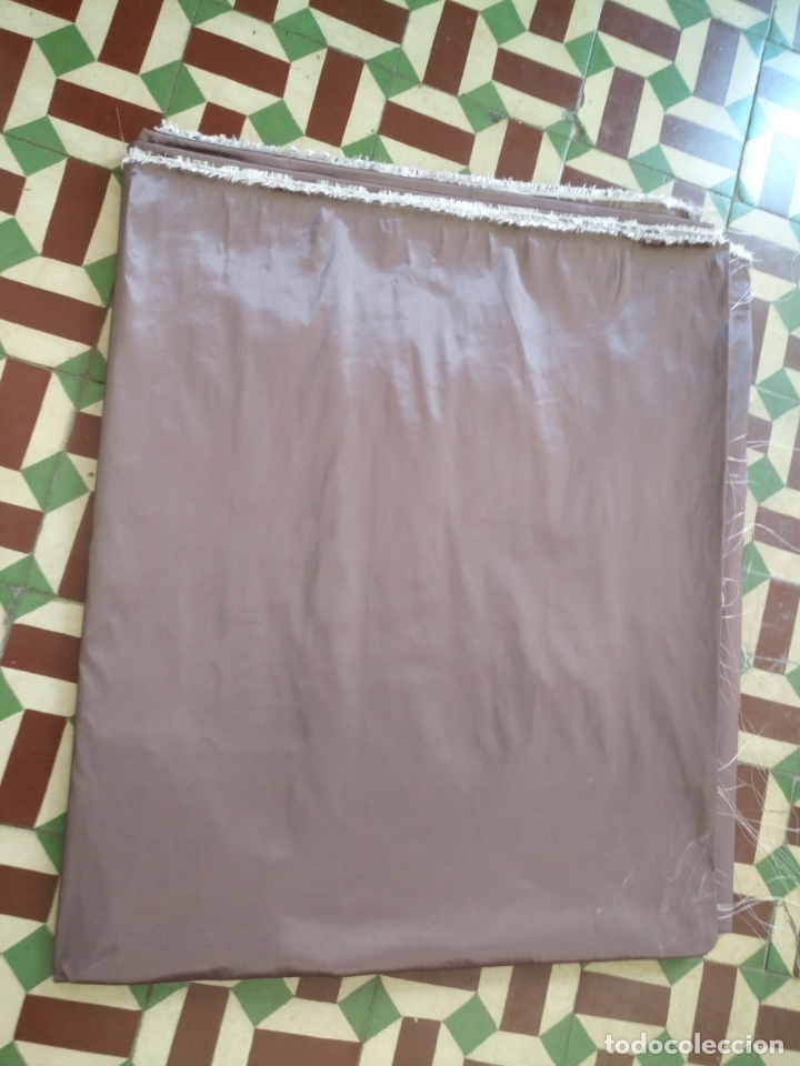 Antigüedades: 3 metros x 2,5 metros tela malva tornasol tipo tafetan ideal manto virgen tunica cristo semana santa - Foto 11 - 176318884