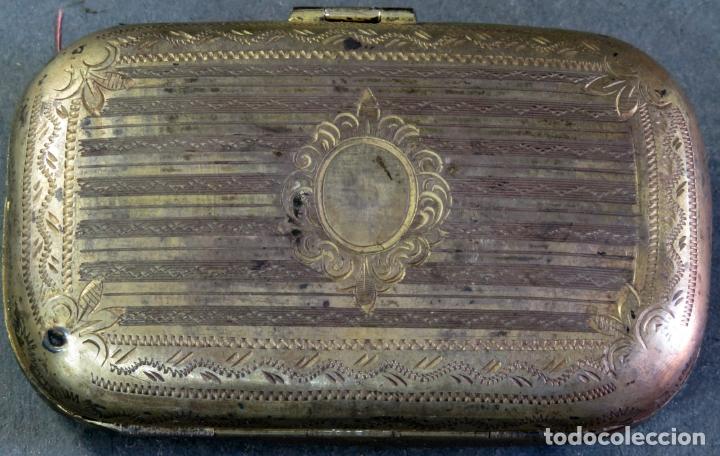 Antigüedades: Monedero en plata y esmaltes con interior forrado en tela hacia 1900 - Foto 4 - 176336759