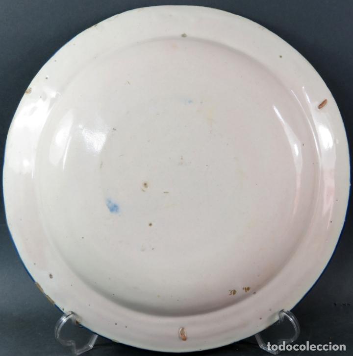 Antigüedades: Plato en cerámica de Alcora serie del ramito siglo XIX - Foto 3 - 176357010