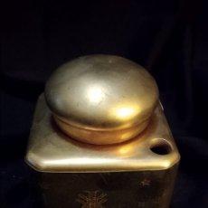 Antiquités: TINTERO PORCELANA LIMOGES FRANCIA. PARA TINTE PLUMA PLUMILLA. VINTAGE.ESCRIBANIA. Lote 176377330