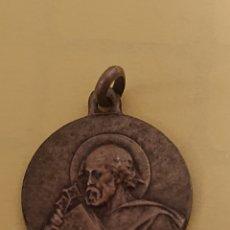 Antigüedades: MEDALLA EN PLATA DE LEY 925 SAN PEDRO. Lote 176383767