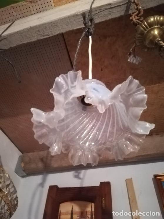 Antigüedades: lampara aplique de techo modernista opalina modernista xix xx art deco leer descripcion perlado - Foto 4 - 167148057