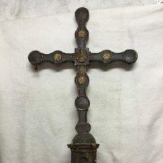 Antigüedades: CRUZ PROCESIONAL DE MADERA DEL SIGLO XVII - XVIII - NECESITA RESTAURACIÓN. Lote 176412404