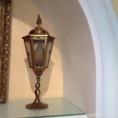 Antigüedades: ANTIGUO FAROL. ALTAR O CARRUAJE. INGLATERRA.. Lote 176420783