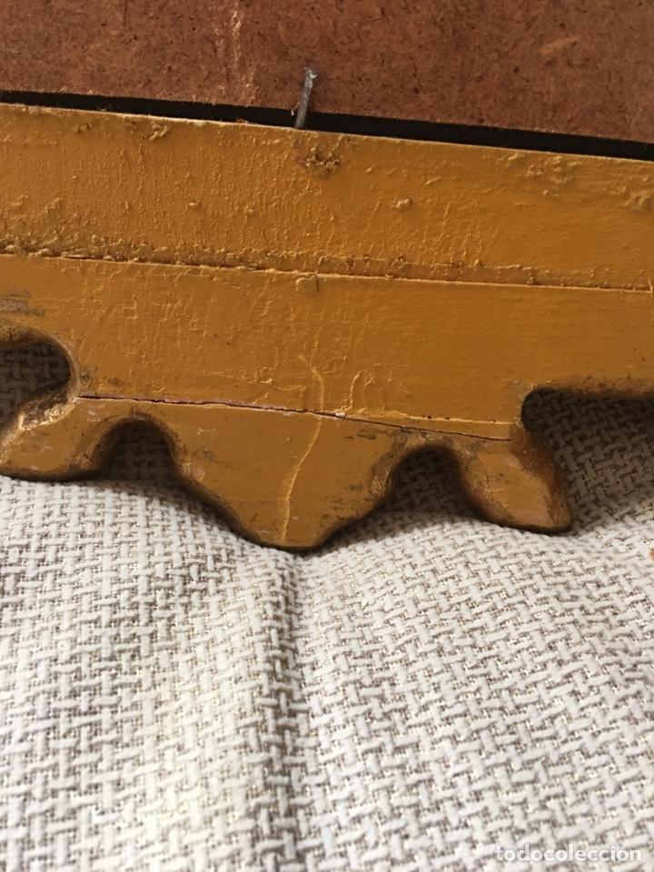 Antigüedades: Antiguo espejo de madera con pan de oro. Espejo antiguo años 70´s - Foto 5 - 176425862