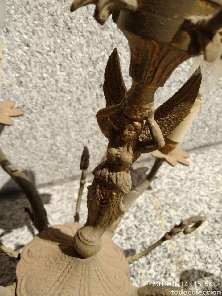 Antigüedades: Lámpara techo Vintage bronce - Foto 2 - 176427039