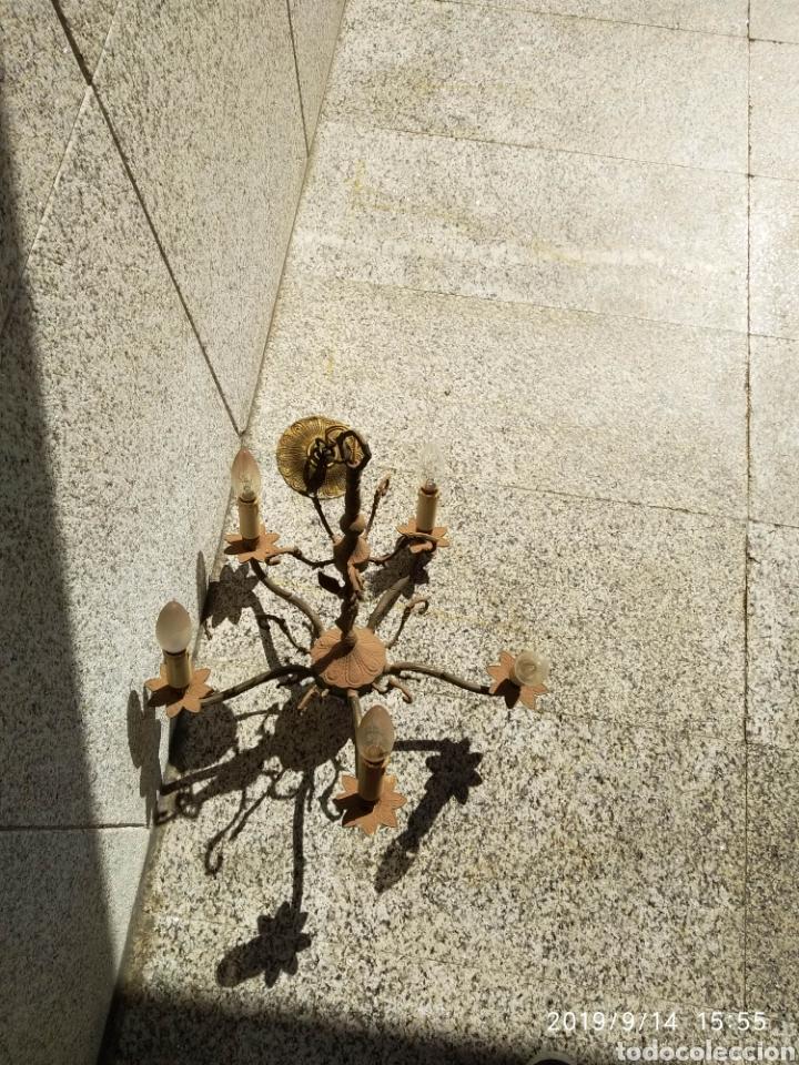 Antigüedades: Lámpara techo Vintage bronce - Foto 3 - 176427039