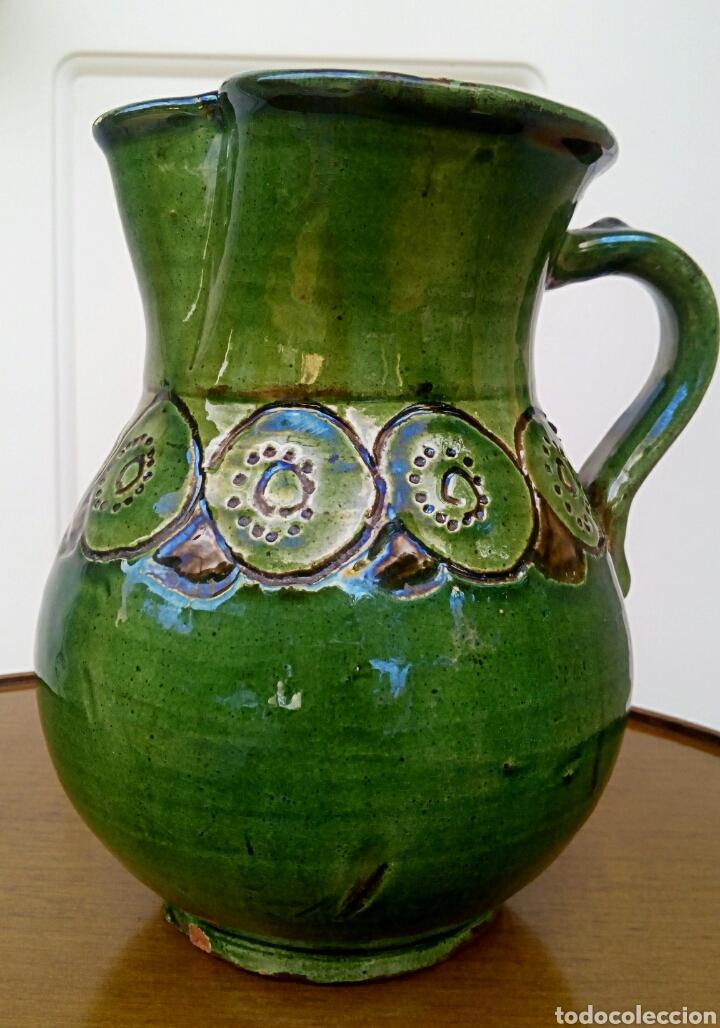 Antigüedades: Jarra hermanos almarza Ubeda. Ceramica esmaltada. - Foto 3 - 176441859