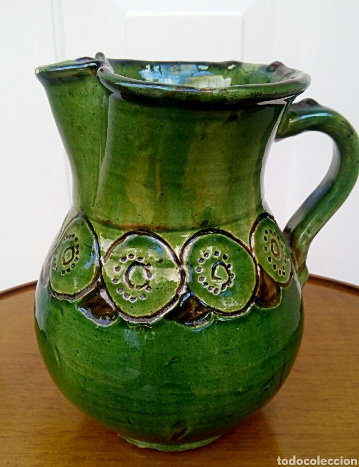 Antigüedades: Jarra hermanos almarza Ubeda. Ceramica esmaltada. - Foto 4 - 176441859