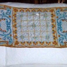 Antigüedades: ANTIGUO TAPETE MODERNISTA BORDADO SOBRE RED O MALLA.135 X 45 CM.. Lote 176447845