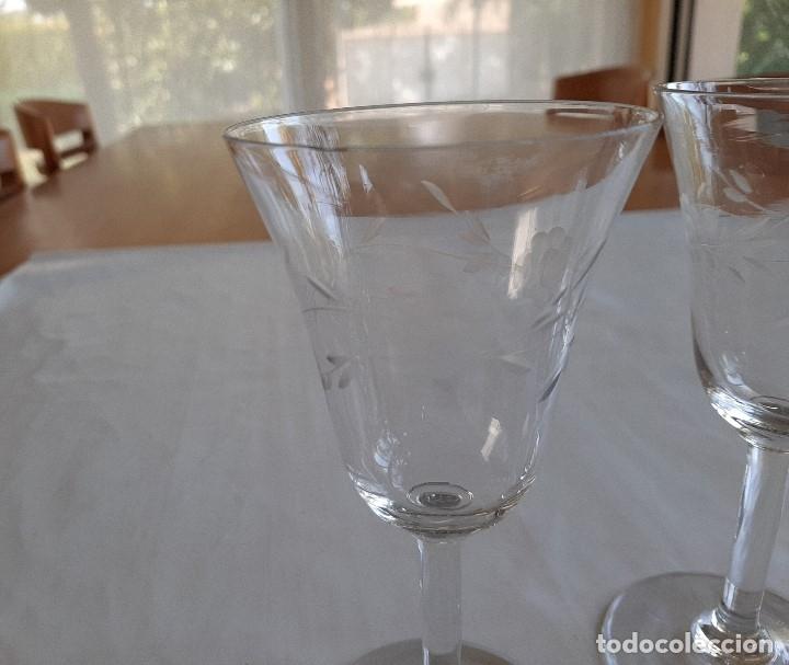 Antigüedades: R 1913 3 copas de cristal sopladio y tallado a mano - principios siglo XIX - Foto 2 - 176453699