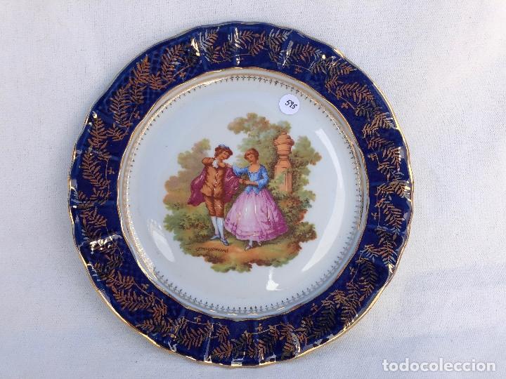 PLATO EN PORCELANA DE LIMOGES (Antigüedades - Porcelana y Cerámica - Francesa - Limoges)