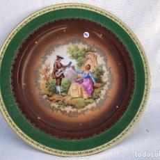 Antigüedades: PLATO GRANDE DECORATIVO EN PORCELANA DE BAVARIA. Lote 176487149