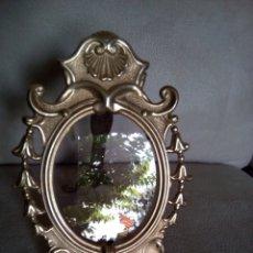Antigüedades: *PORTAFOTOS DE BRONCE CINCELADO .19 CM X 13 CM (RF: B/C). Lote 176489954