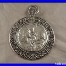 Oggetti Antichi: MEDALLON DE CUNA DE PLATA MACIZA 925 - A ESTRENAR-. Lote 261664985