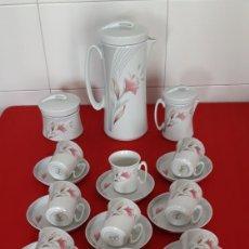 Antigüedades: JUEGO DE CAFE PORCELANA BAREUTHER BAVARIA GERMANY AÑOS 70. Lote 176499630