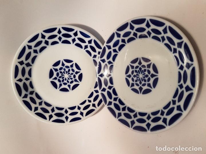 PAREJA DE PLATOS DE SARGADELOS CERAMICA (Antigüedades - Porcelanas y Cerámicas - Sargadelos)