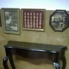 Antigüedades: CONSOLA ISABELINA DE NOGAL. Lote 176521057